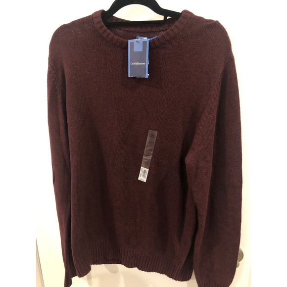 Men's Croft & barrow sweater NWT
